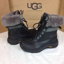 Ugg Australia Womens Adirondack Black & Grey Color Snow Boot Size 7 US