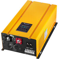 VEVOR Pure Sine Wave Power Inverter Low Frequency Inverter 4000W W/ LCD for Car