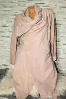 Italy New Collection Sweat Long Jacke Vintage Gr. 36 38 40 42 rosa blogger NEU
