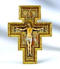 "New! 11"" Wall Cross Crucifix San Damiano INRI Home Decor Decoration Gift"