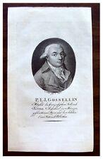 ca 1801 - PASCAL FRANCOIS JOSEPH GOSSELLIN - Engraving