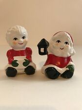 Lego Santa & Ms Claus Christmas  Salt & Pepper Shakers Vintage NEW Hand Painted