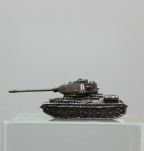 Tin Toy Soldier Assembled Unpainted Tank Т-34 40mm 1/45 miniature