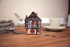Ceramic house candle holder 'House in Kaysersberg, France', 12 cm, © Midene