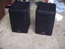 Optimus PRO-X33AV Small Black Front Surround Bookshelf Stereo Speakers