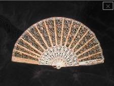 1950's Vintage Champagne Lace Spanish Folding Fan