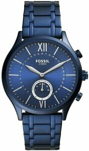 Fossil Fenmore Hybrid Smartwatch Men's Blue Stainless Steel NEW IN BOX