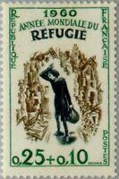 EBS France 1960 - HELP REFUGEES! - Année Mondiale du Réfugié YT 1253 MNH**