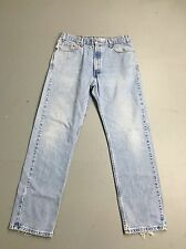Mens Levi 505 'Straight' Jeans - W36 L32 - Faded Navy Wash - Great Condition