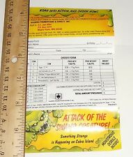 G I JO E MINI Catalog Brochure Order Form     1990 Attack of the Swamp Creature