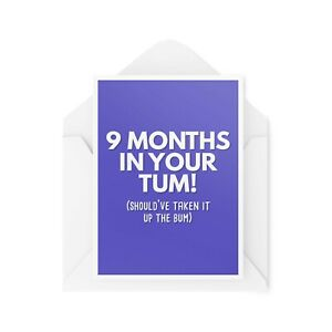 Funny Pregnancy Cards   Maternity Card   New Baby Friend Colleague Banter CBH514