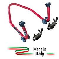 Cavalletto Alzamoto Posteriore Bike Lift Attacchi Forchetta Moto Stradale Rosso