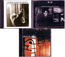 U2 Singles Lot WIDE AWAKE IN AMERICA WHERE THE STREETS HAVE NO NAME FLY Rare