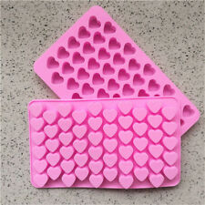 Mild Silicone 55 Heart Mould Mold Chocolate Candy Gummy Maker Ice Jelly DIY Tray