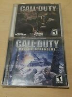 Call Of Duty & United Offensive Expansion Pack PC CD Rom 2: 2 Disc Sets w/ Codes