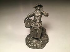 Vintage Franklin Mint Pewter Figurine The Fishwoman Cries Of Olde London Series