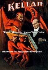 Vintage/Old/Antiqe Weird/Scary/Creepy Magician Harry Kellar Demon/Devil Photo