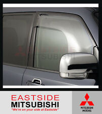 GENUINE MITSUBISHI PAJERO NM NS NT NW NX WEATHERSHIELD WEATHERSHIELDS SET OF 2