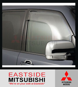 GENUINE MITSUBISHI PAJERO NM NS NT NW NX WEATHERSHIELD WEATHERSHIELDS SET OF 2