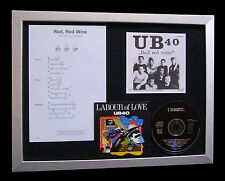 UB40 Red Wine GALLERY QUALITY CD LIMITED MUSIC FRAMED DISPLAY+FAST GLOBAL SHIP