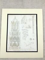 1826 Antique Print King Henry VII Chapel Westminster Abbey Pugin Engraving