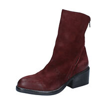 women's shoes MOMA 7 (EU 37) ankle boots burgundy suede BY934-37