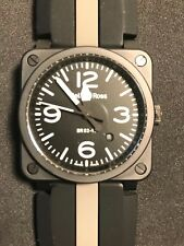 Bell and Ross BR03-92-CBL Ceramic Automatic Movement Aviation / Military.