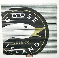 "Goose Island Beer Company Corrugated Metal Beer Sign 24x22"" - Brand New In Box!"