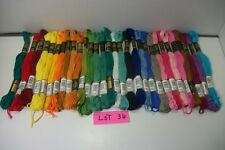 LOT 36 Iris cotton hand embroidery floss 6 strand/8mt/app 8 yds mixed colors