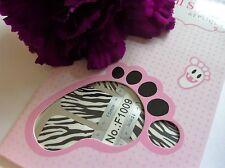 Nail Art Self Adhesive Full Toe Nails Polish Wrap Sticker Red Tiger Stripe 1009T