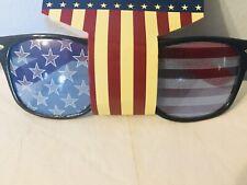 KIDS USA Flag Lens Retro Square Patriotic Sunglasses Boys Girls
