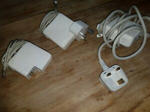 X3 Genuine Apple MagSafe 60W Power Adapters Model A1344 / A1184