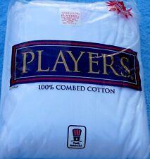 Underwear - Men's - T-Shirts - Crew Neck - White - Players - U.S.A.-  9X-10X-BIG