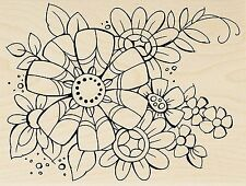 Flower Pizazz, Wood Mounted Rubber Stamp STAMPENDOUS, New - R286