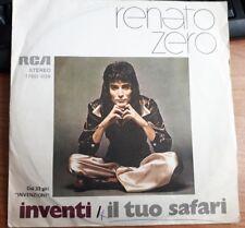 """RENATO ZERO - INVENTI / IL TUO SAFARI  - RARO 45 GIRI 7"""" ITALY PRIMA STAMPA 1974"""