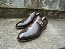 CROCKETT & JONES MONK STRAP – BROWN - UK 9.5 – MALVERN - EXCELLENT CONDITION