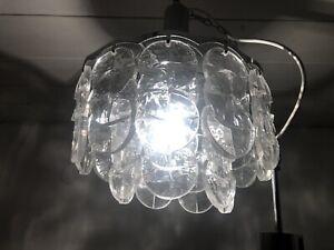 Kalmar Franken AG Deckenlampe Eisglas Leuchter Ice Glas Lamp Plexiglas