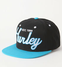 Hurley Snap Back In Time Cali Bear Black Wool Blend Snapback Hat Ball New NWT