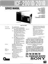 SONY ICF-2001D, ICF-2010 FULL DOCUMENTATION ON A CD