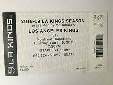 Jonathan Quick Signed KINGS 2012 STANLEY CUP Autographed TICKET STUB PSA//DNA COA