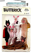 Butterick 6815 CHild's Animal Halloween Costume Pattern Size 2 3 4 Cat Lion