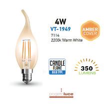 LAMPADA LED FILAMENTO VINTAGE V-TAC 4W 6W 8W E27 E14 LUCE CALDA LAMPADINA Retro'