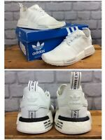 ADIDAS UK 4 EU 36 2/3 WHITE NMD BOOST R1 TRAINERS RRP £75 CHILDRENS LADIES LB