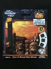 STAR WARS ATTACK OF THE CLONES SEALED 3D VIEW-MASTER REELS