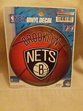 "NBA BROOKLYN NETS WINDOW DECAL VINYL DIE-CUT 4"" ROUND NEW !"