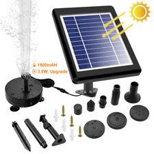 LED Wasserspiel Solarpumpe mit Akku Springbrunnen Pumpe 3,5W Solar Teich Brunnen
