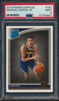 2018-19 Panini Donruss Rated Rookie RC #182 Michael Porter Jr. PSA 9 Mint