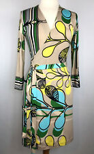Analili Size Small Long Sleeve Wrap Dress Multicolor Color Floral Print Sz S