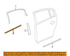 Buick GM OEM Lucerne Rear Window/Door-Belt Molding Weatherstrip Right 15913532