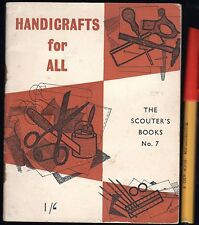 1954 1st Edition BOY SCOUTS ASSOCIATION HANDICRAFTS FOR ALL Girl Guides GC